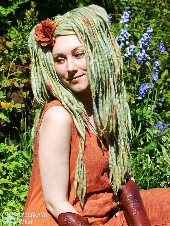 Pixie ELFLOCKS Dreadlocks Dread Falls in by woodlandwild on Etsy