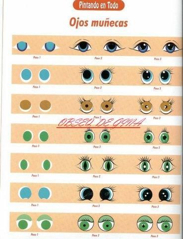 Como hacer ojos para muñecos o muñecas : cositasconmesh