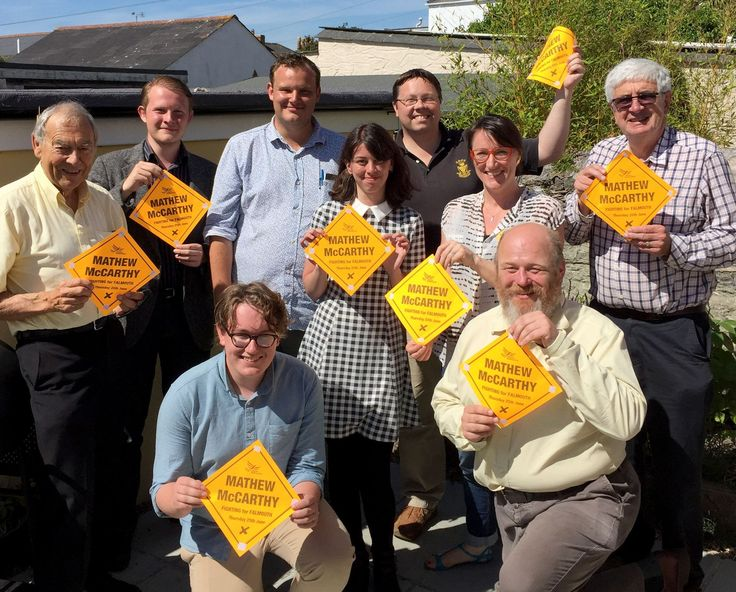 """Falmouth community activist Mathew McCarthy was elected as a Liberal Democrat member of Falmouth Town Council on Thursday in what is being described as a """"decisive win"""" in the Penwerris ward of the town."""