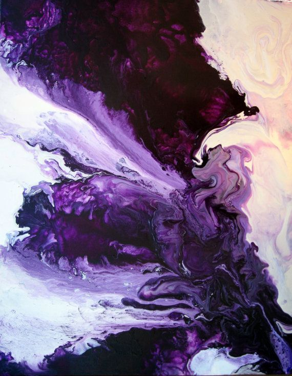 Sale Abstract Painting 24x30 Purple and white by JenniferFlanniganart
