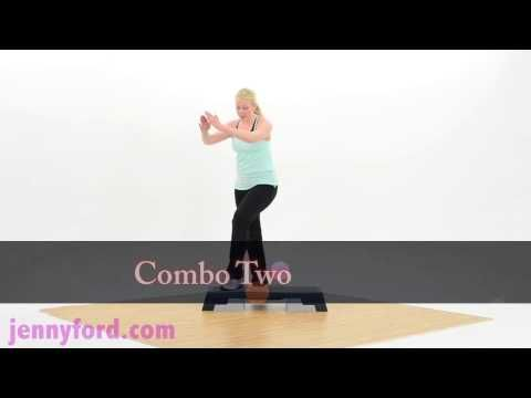 Step Aerobics Fitness Cardio Workout - Jenny Ford. Great beginning step aerobics workout.