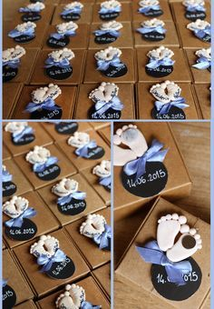 Baby feet magnet. Baptism usefull favors ideas for your guests. Isn't it frustrating to think people are throwing away your favors? Give to them something special and unique #Baptism #christening #Handmade #polymerclay Follow me on ElⒹ Etsy shop: http://etsy.me/1gBnBng