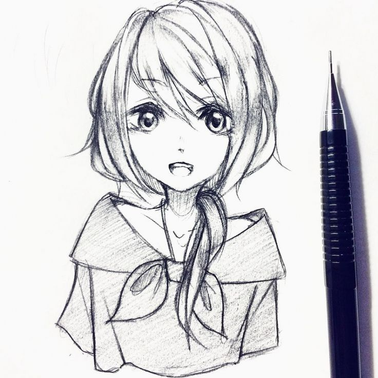 25+ Best Looking For Cute Anime Drawings In Pencil Girl
