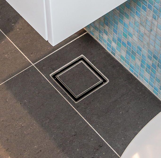 Allproof Elegance Invisi Drain installed in tiled bathroom