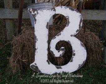 GRANDE DE MADEIRA CARTA B, a letra B, sinais do vintage, letras A a Z disponível, chique gasto da decoração, madeira Livro de Convidados