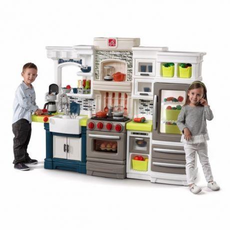 Step2 Stylowa Kuchnia Dla Dzieci Elegant Edge Z Akcesoriami Zielona