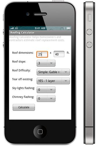 Good Roofing Calculator App V0.1 (BETA 1) For IPhone / IPod And IPad