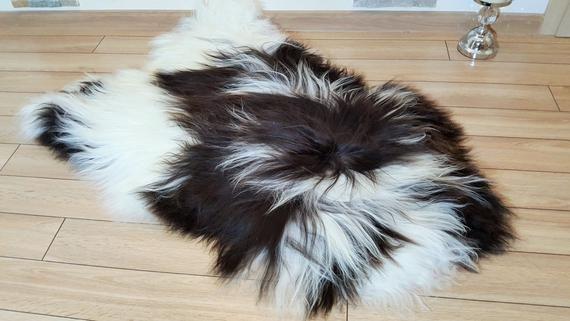 Sheepskin Rug Black And White Bedcover