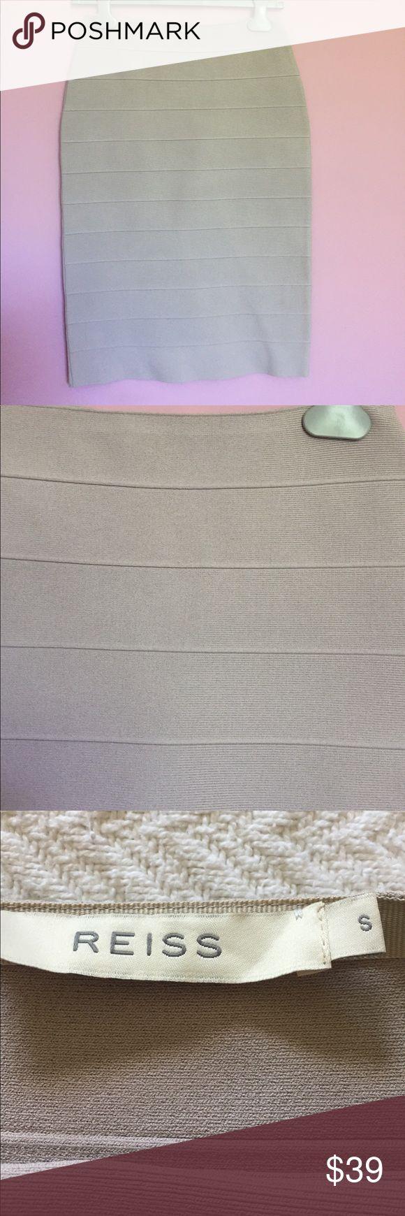 Reiss bandage skirt Great skirt from Reiss in neutral beige Reiss Skirts