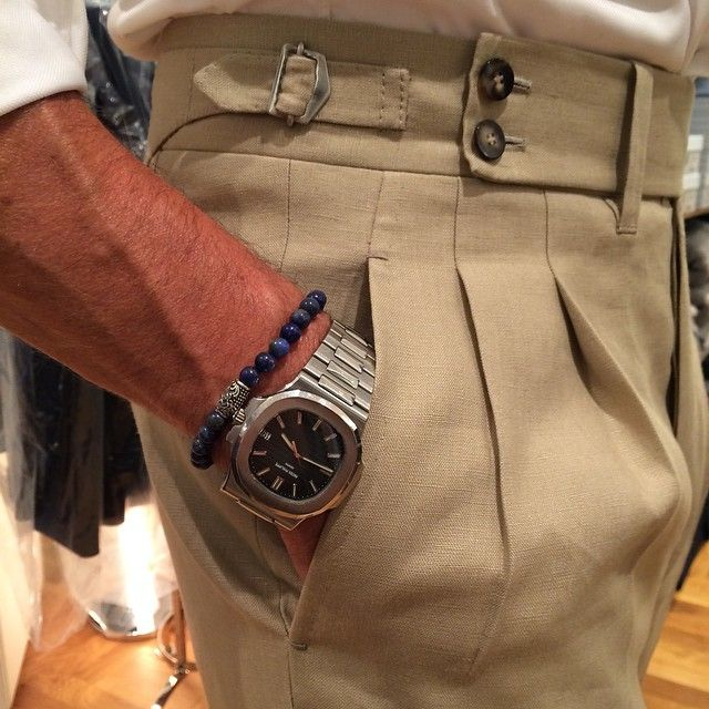 "violamilano:  "" Hercule Poirot is in town wearing trousers by Cesare Attolini, Patek Philippe watch & Viola Milano ""Deep Sea"" bracelet…  www.violamilano.com  #vm #violamilano #patekphilippe #watchporn #dailywatch #cesareattolini #attolini #porn..."