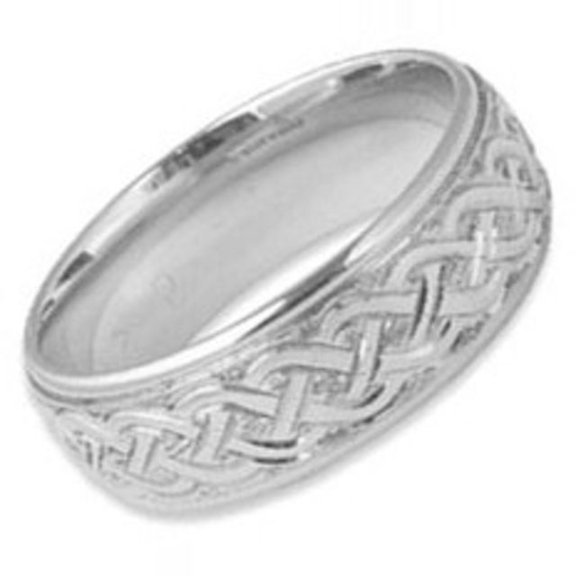 Cute Hand Engraved Celtic Weave Ring