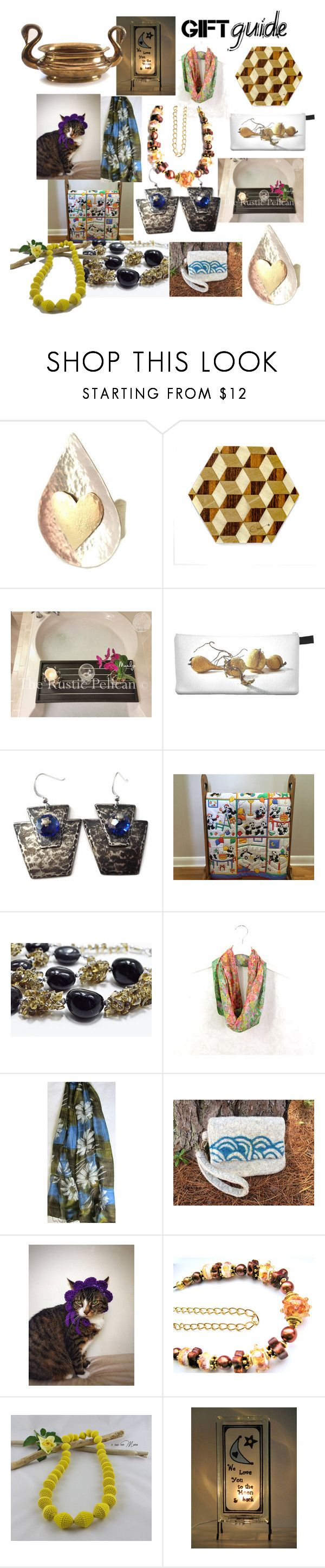 """""""Gift Guide"""" by anna-recycle ❤ liked on Polyvore featuring Giallo, modern, rustic and vintage"""