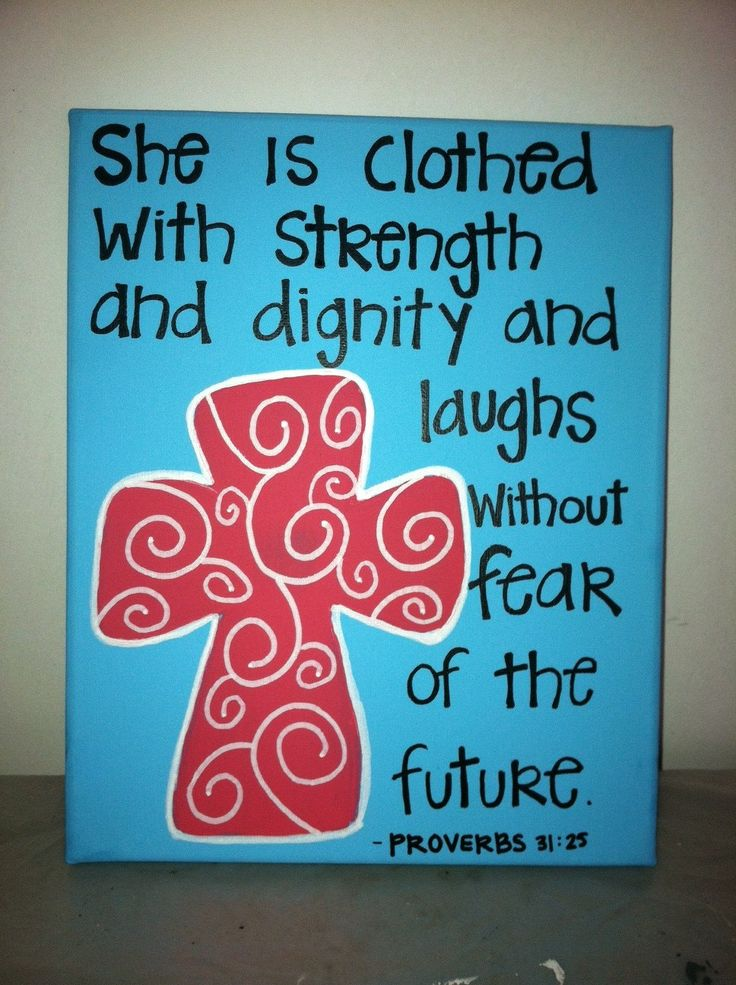 Cross+Paintings+On+Canvas | This is a 11x14 sized canvas with a blue background, coral cross, and ...