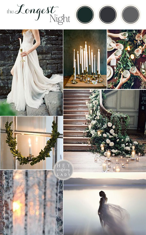 The Longest Night - Winter Solstice Wedding Inspiration