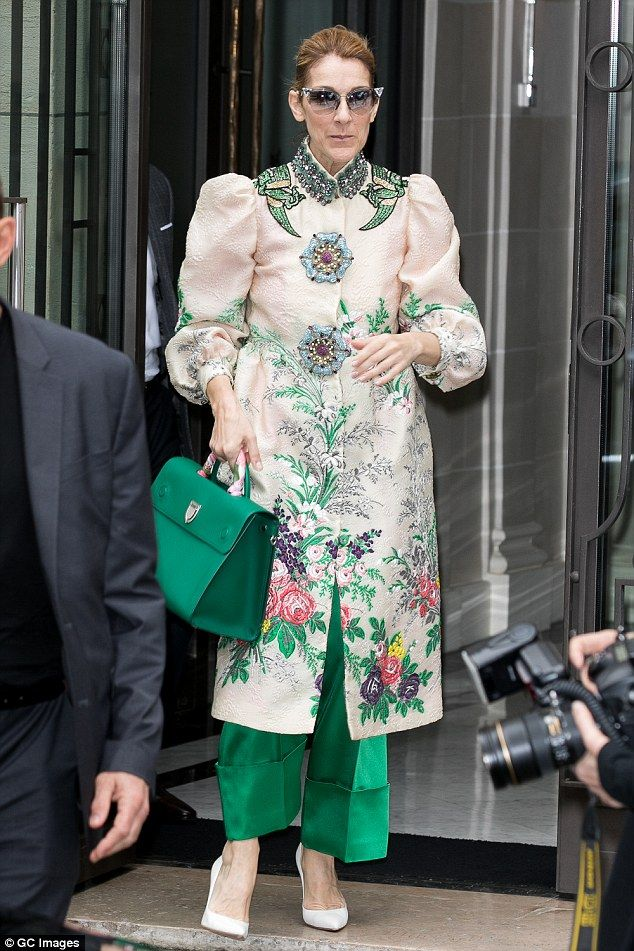 Style icon: Celine Dion, 49, continued her style overhaul as she stepped out in yet another glamorous look in Paris, France on Sunday