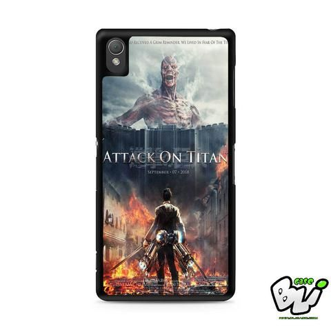Attack On Titan Cover Movie Sony Experia Z3,Z4,Z5,C3,C4,E4,M4,T3 Case,Sony Z3,Z4,Z5 MINI Compact Case