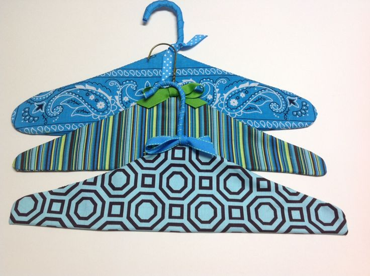 Hang it Up with Fabric Covered Hangers. Why use boring clothes hangers when you can create something fun to add pizzazz to your closet? Those mundane wire or plastic hangers can be easily transformed with colorful fabrics to add a spark to your early-morning clothing selection process. To make a fabric covered hanger: Trace around …