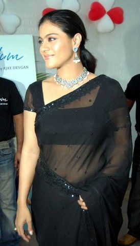 Actress Kajol http://www.yoyoshare.com/actress/kajol/kajol-in-black-saree-blouse/