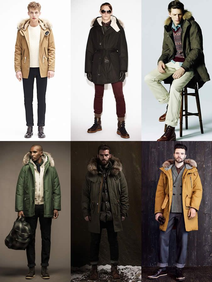 Men's Parka Lookbook jackets #MenStyle #MensFashion
