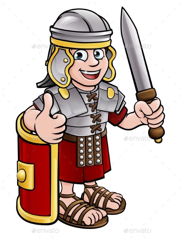 Image result for roman cartoon character