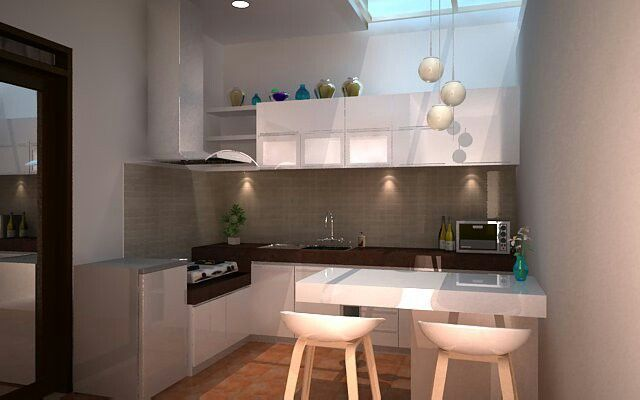 Kitchen on small house