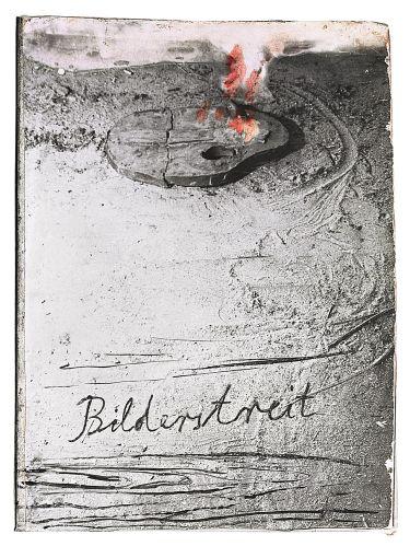 Anselm Kiefer Lucha de imágenes (Bilderstreit), 1980 Goma-laca en fotografía original sobre cartón 58 x 43,5 x 8 cm, 34 páginas Guggenheim Bilbao Museoa