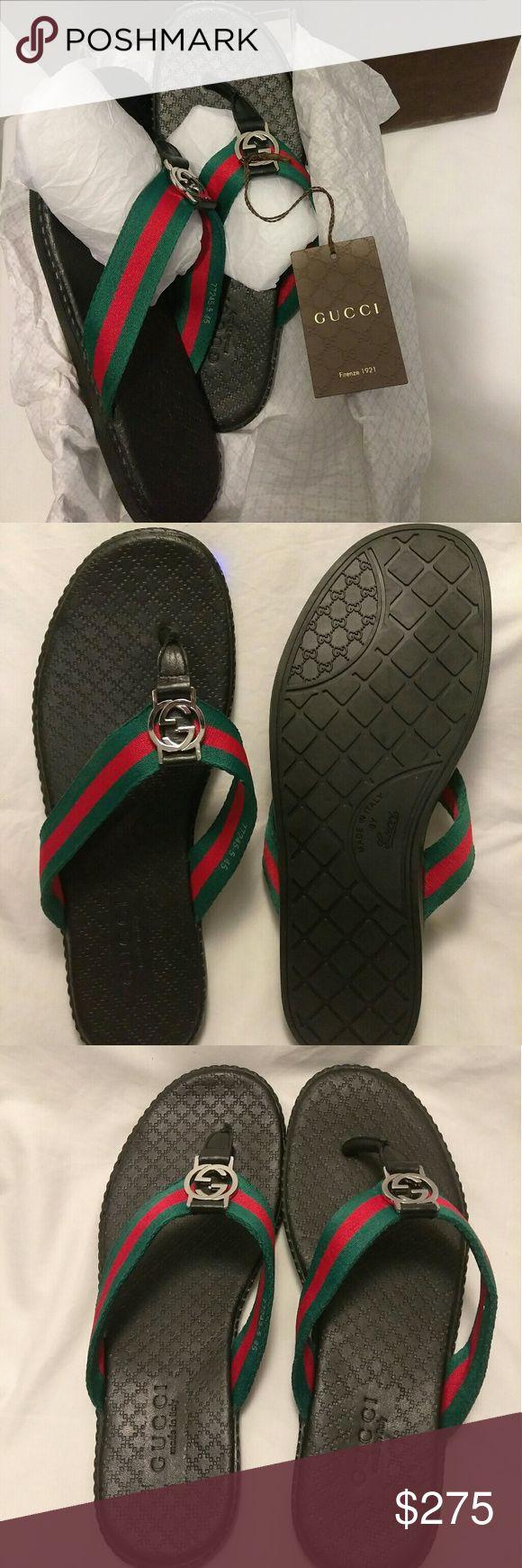 Gucci Men Sandals size 12 Brand New, Gucci men sandals size 11:5- 12,Italian size (45) , Comes with Original box, dust bag + Shopping bag. Retail price is 5480 Gucci Shoes Sandals & Flip-Flops