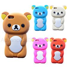 etui housse coque silicone doux animale geniale rilakkuma pour iphone 4 4s 5 5s coques. Black Bedroom Furniture Sets. Home Design Ideas