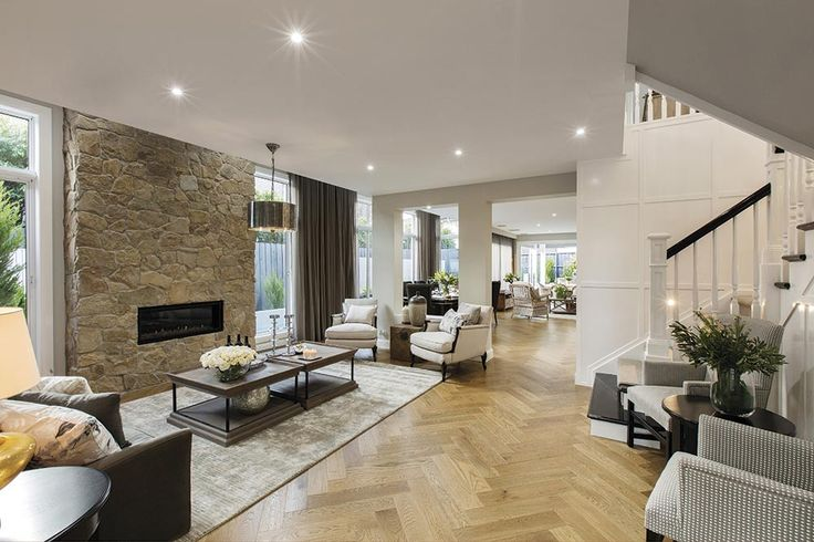 Formal lounge in the Brookwater with a Classic Hamptons World of Style.
