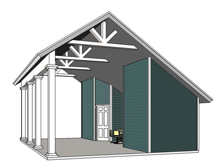 Rv carport plan 006g 0165 deluxe camping pinterest for Rv shed ideas