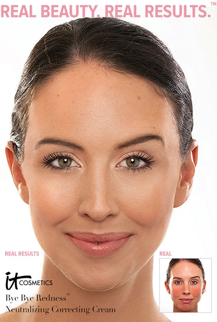 Banish redness with @IT Cosmetics By Jamie Kern Bye Bye Redness Neutralizing Correcting Cream.