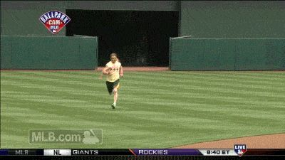 Josh Reddick dresses as The Ultimate Warrior... and sprints in from the bullpen.  For more news and information follow Team Sports.