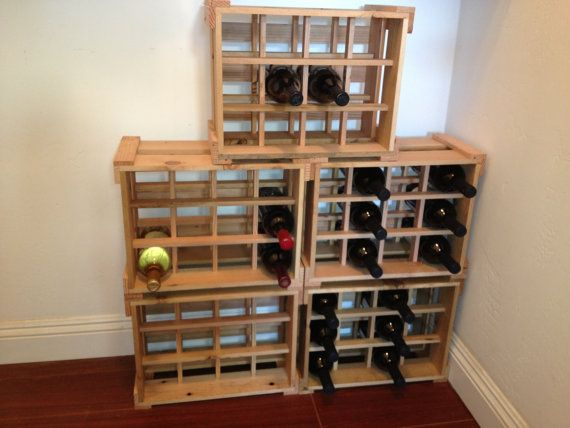 off sale stackable wooden wine racks handmade from recycled wood - Wine Racks For Sale