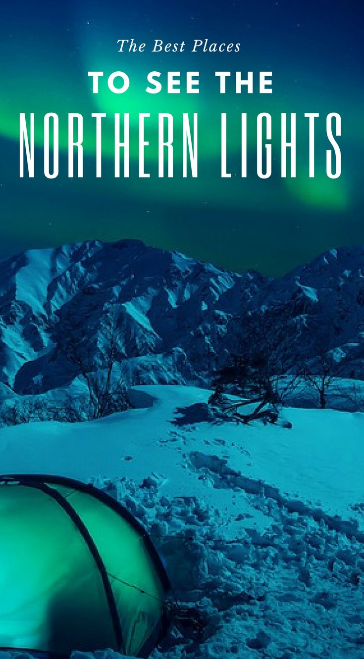 The best places to see the Northern Lights. Would you like tosee the 'Northern Lights', orAurora Borealis? From Canada to Iceland, we bring youthe bestlocations forNorthern Lightsviewing this season. Click to read the full travel blog post 9 Unreal Northern Lights Tours by America's Adventure Couple the Divergent Travelers adventure travel blog. | Northern Lights | Where to See Northern Lights | Vacation Destinations | Northern Lights Tips |