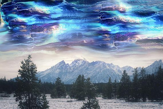 Surreal Space Abstract Space Abstract Landscape Su Sky