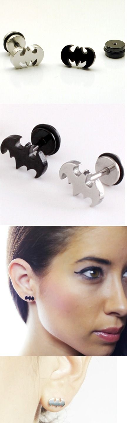 Batman Stainless Steel Earring Studs! Click The Image To Buy It Now or Tag Someone You Want To Buy This For.  #Batman