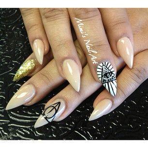 Illuminati Nude Nails NailArt by: MIMI Nails Tampa Fl USA