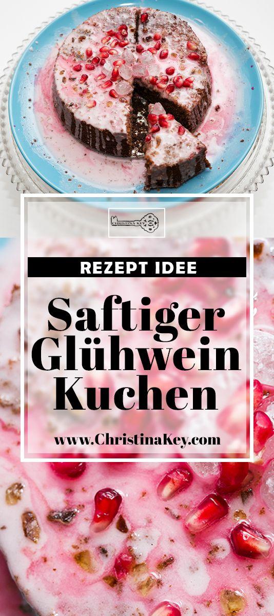 Rezept Idee im Winter: Köstlicher Glühwein Kuchen mit Zucker Glasur und Granatapfel - Das feinste Kuchen Rezept der Saison für Groß & Klein! Jetzt entdecken auf CHRISTINA KEY - dem Fotografie, Blogger Tipps, Rezepte, Mode und DIY Blog aus Berlin, Deutschland