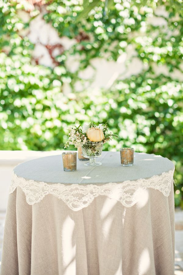 High Top Table Linens Part - 44: Ivory And Mustard Spanish Inspired Wedding | See Best Ideas About High Top  Tables