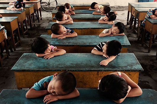 nap time in China. Why can't the schools we go to everyday do this? Sigh.