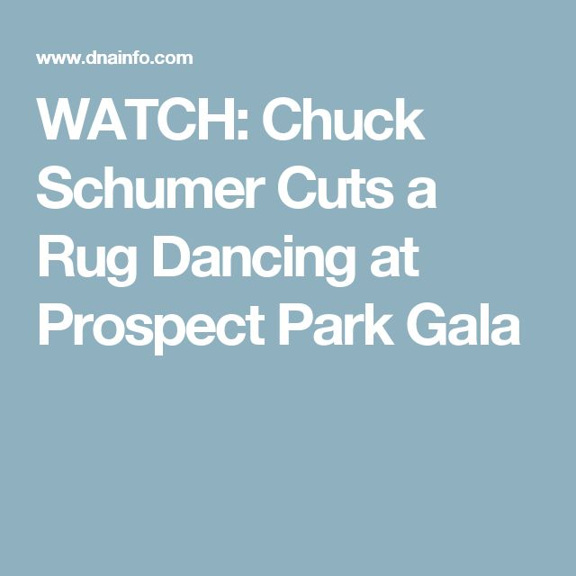WATCH: Chuck Schumer Cuts a Rug Dancing at Prospect Park Gala