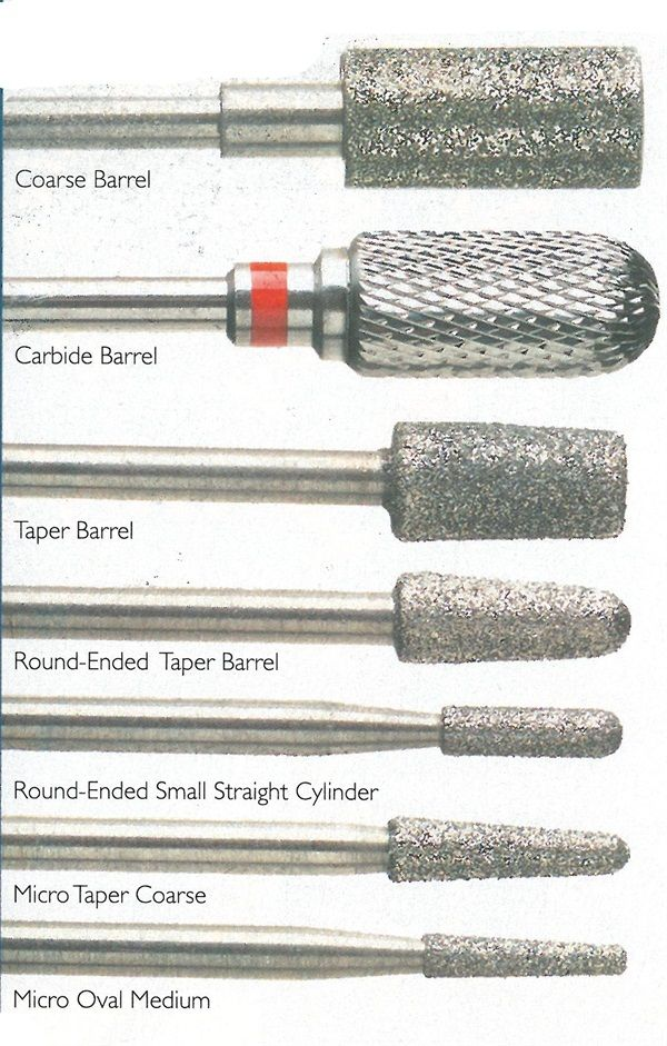 Drill Bits & Pieces   Nail Art Drill Bit Descriptions   Nail