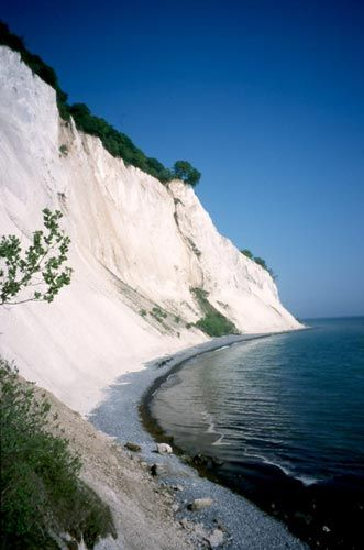 Mons Klint rises 128 meters above the sea, Denmark