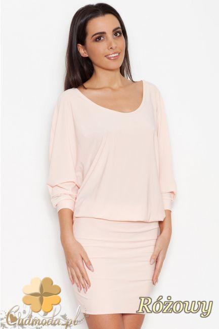 Dopasowana sukienka z luźną górą marki Katrus.  #cudmoda #moda #ubrania #odzież #clothes #sukienki #kleid #dresses