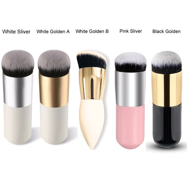 Hot Sale Chubby Pier Foundation Brush Flat Makeup Powder Blush Brush For Makeup Cosmetic Make Up Brushes Tools #87076