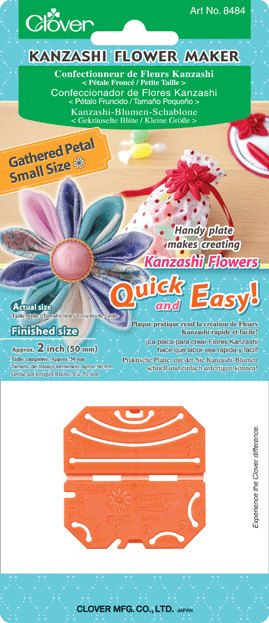 Clover Kanzashi Flower Maker  Gathered Petal Small 2 inches