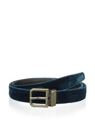 47% OFF Dolce & Gabbana Men's Velvet Belt (Petrolio/Nero)