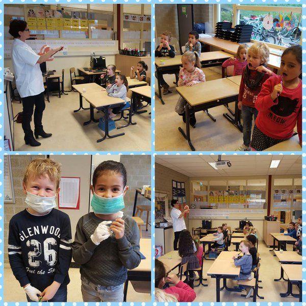 #tStartblok groep 3 | De tandarts kwam ons vertellen hoe we onze tanden goed moeten verzorgen