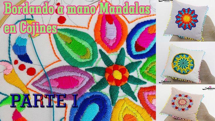 Como Bordamos a mano un Mandala By Labecca Bordados PARTE I. COJIN DECOR...