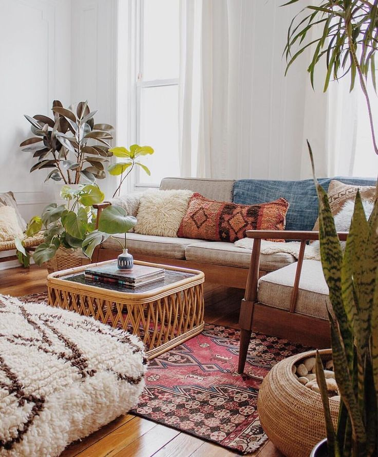 Cozy Boho Living Room Full Of Light Natural Touches